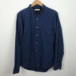Canvas by Lands' End Long Sleeve Button Down Top